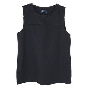 NWT Gap Black Zippered Sleeveless Top Small